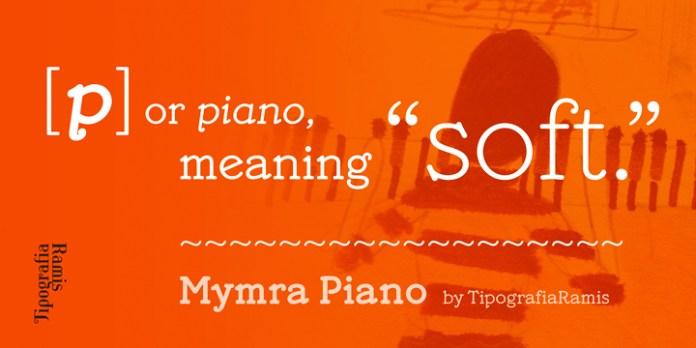 Mymra Piano Font Family