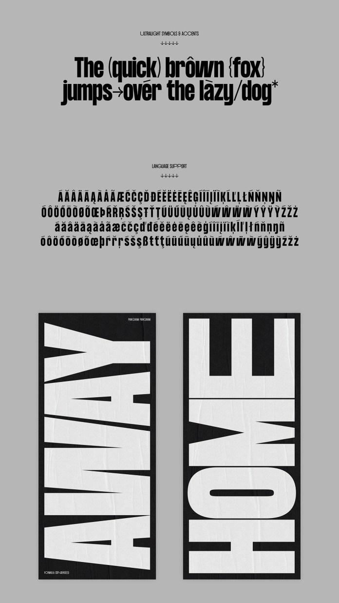 Formula Consensed Font Family