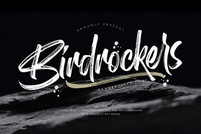 Birdrockers Brush Font