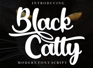 Black Catty Font