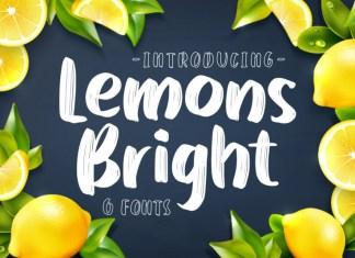 Lemons Bright Font