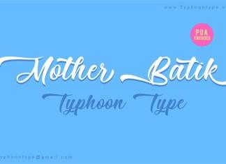 Mother Batik Font