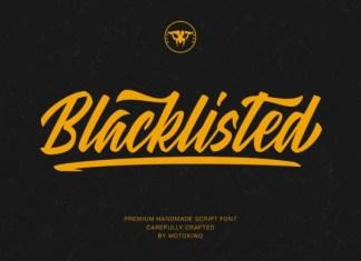 Blacklisted Font