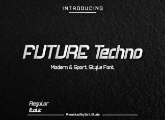 Future Techno Italic Font