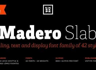 Madero Slab Font