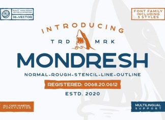 Mondresh rough Font