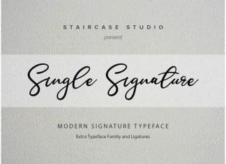 Single Font