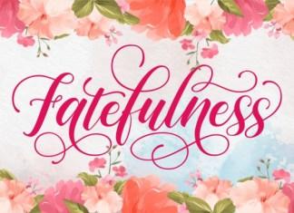 Fatefulness Font
