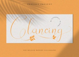 Glancing Font