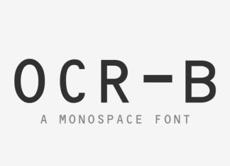 OCR-B Font