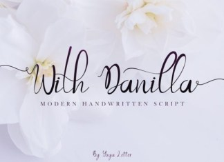 With Danilla Font