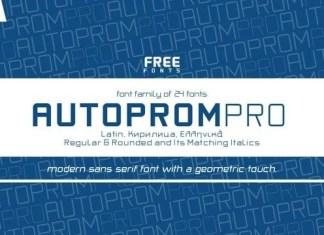Autoprom Font