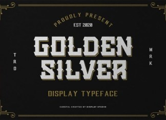 Golden Silver Font
