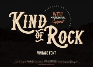 Kind Of Rock Font