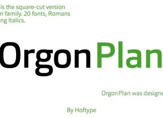 Orgon Plan Font