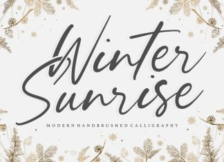 Winter Sunrise Font