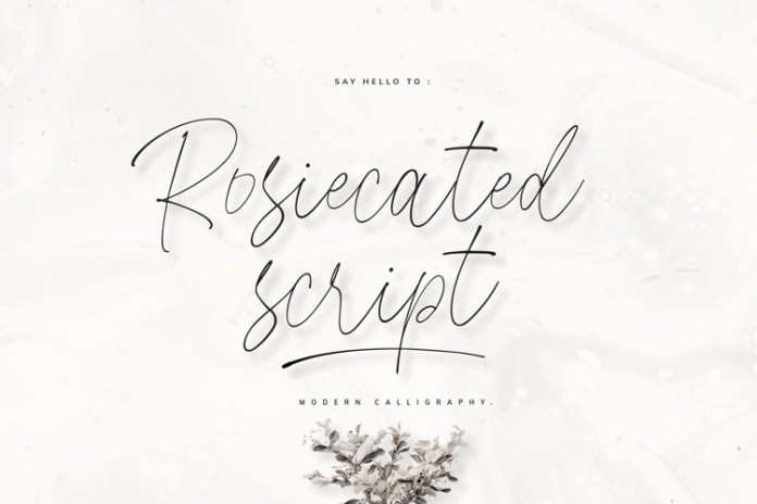 Rosiecated Font