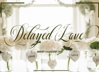 Delayed Love Font