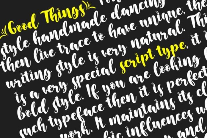 Good Things Font