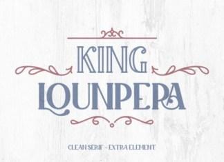 King Lounpera Solid Font