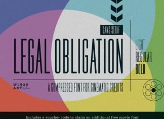 Legal Obligation Font