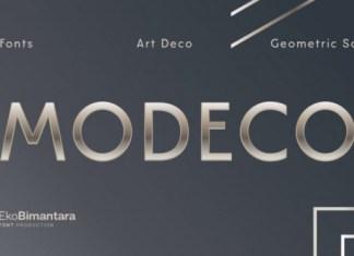 Modeco Font