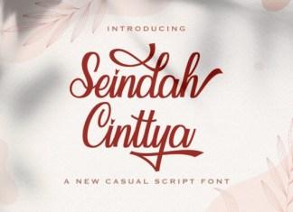 Seindah Cinttya Font