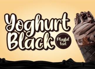 Yoghurt Black Font