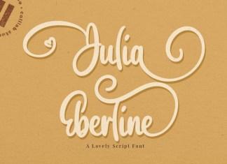 Julia Eberline Font
