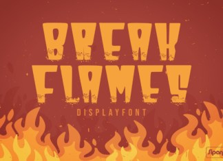 Break Flames Font