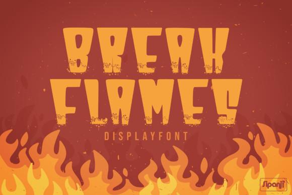 Break Flames Font