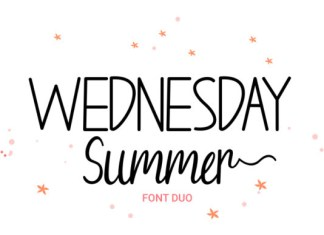 Wednesday Summer Font