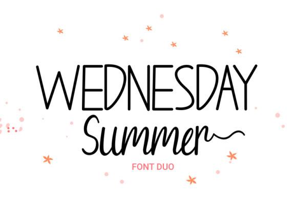 Wednesday Summer Font
