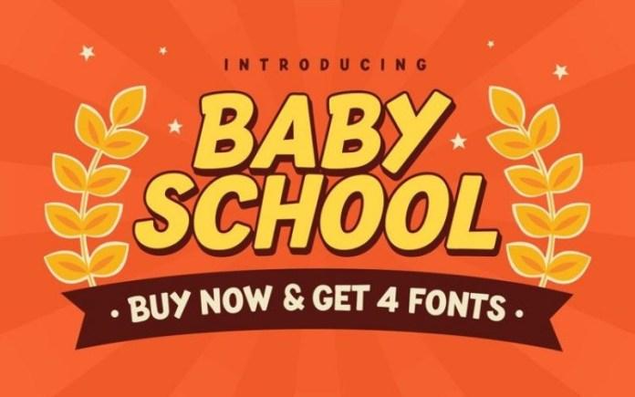 Baby School Font