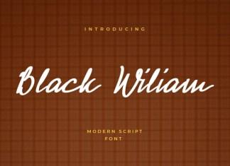 Black Wiliam Font