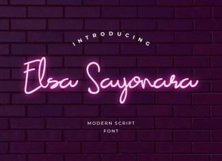 Elsa Sayonara Font