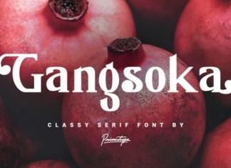 Gangsoka Font