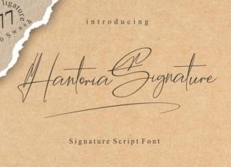 Hantoria Signature Font