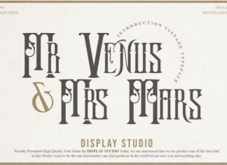 Mr.Venus & Mrs.Mars Font
