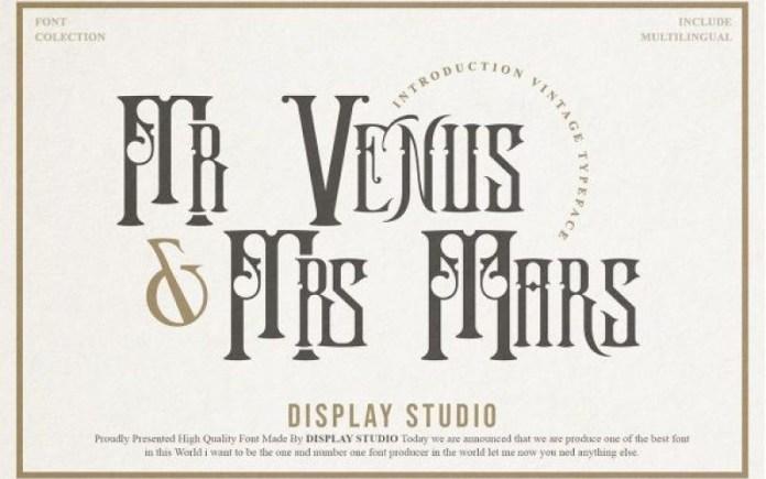 Mr.Venus & Mrs.Mars Font