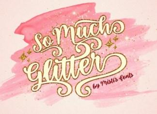 So Much Glitter Font