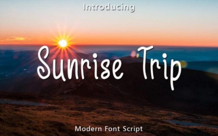 Sunrise Trip Font