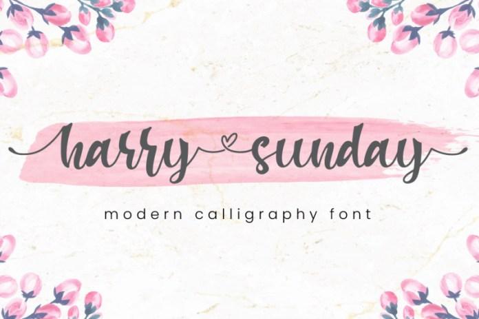 Harry Sunday Font