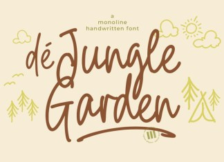 De Jungle Garden Font
