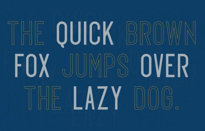 Exon outline Font