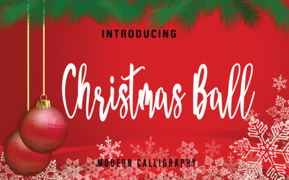 Christmas Ball Font