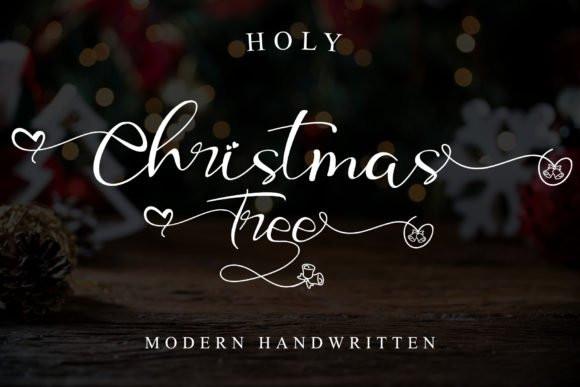 Holy Christmas Tree Font