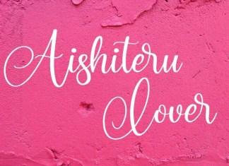Aishiteru Lover Font