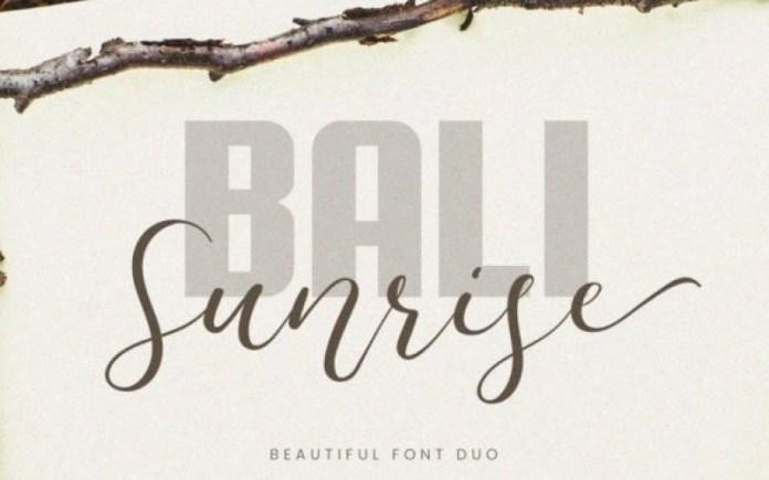 Bali Sunrise Font