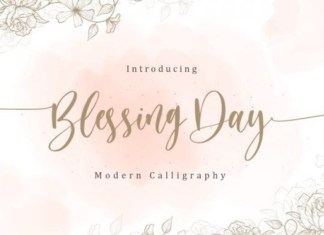 Blessing Day Font